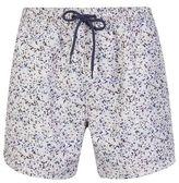 Burton Mens White Paintsplatter Swim Shorts