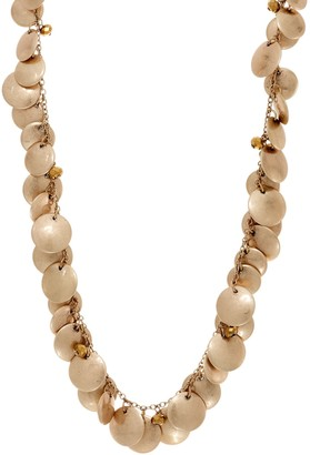 """Joan Rivers Classics Collection Joan Rivers 34"""" Metal Discs Necklace with 3"""" Extender"""