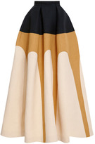DELPOZO Tri-Tone Full Skirt
