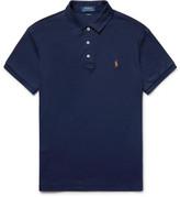 Polo Ralph Lauren Slim-fit Cotton-jersey Polo Shirt - Midnight blue