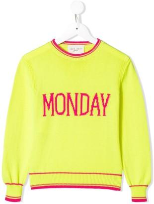 Alberta Ferretti Kids Monday slogan sweater