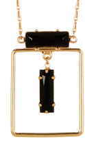 Stephan & Co Rectangle Crystal Pendant Necklace