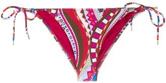 Emilio Pucci Geometric Print Bikini Bottoms