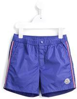 Moncler striped trim swim shorts
