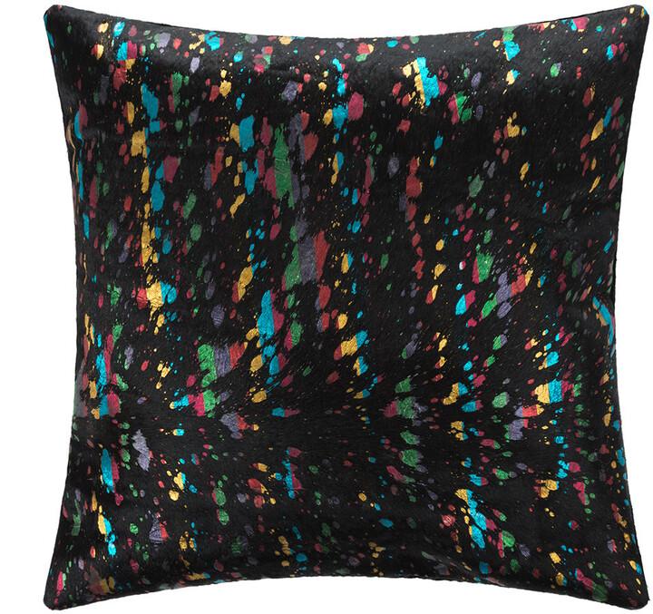 Luxe - Metallic Acid Cowhide Cushion - 45x45cm - Multi
