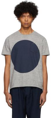 Blue Blue Japan Grey Big Circle T-Shirt