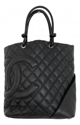 Chanel Cambon Black Leather Handbags
