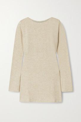 AAIZÉL Net Sustain Melange Knitted Tunic - Sand