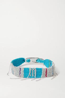 Katia Alpha - Woven Cord And Silver Bracelet - Blue