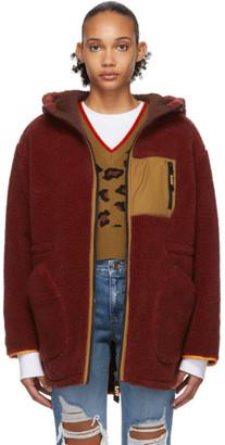 Sjyp Reversible Burgundy Sherpa Jacket