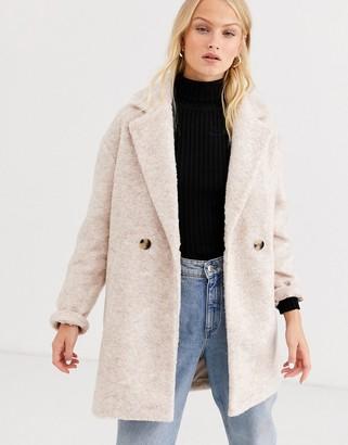 Only oversized brushed jacket