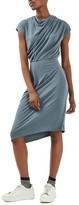 Topshop Women's Drape Belted Midi Dress