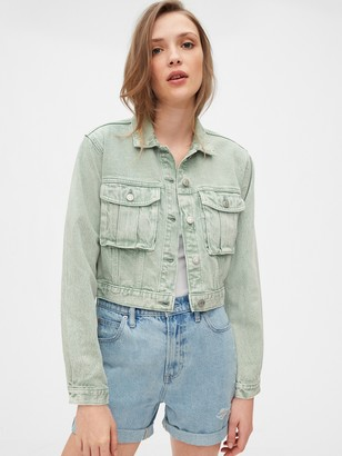 Gap Cropped Utility Denim Jacket