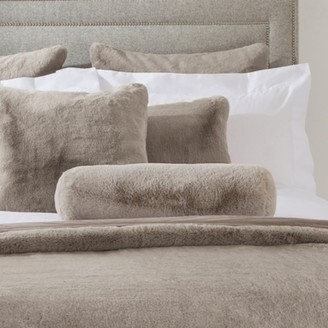 The White Company Super Soft Faux-Fur Boudoir Cushion, Mink, One Size