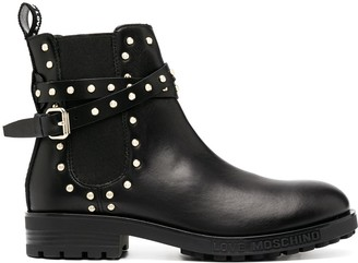 Love Moschino studded Chelsea boots