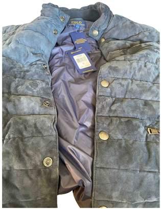 Polo Ralph Lauren Navy Suede Jackets