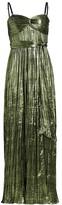 Jonathan Simkhai Convertible Metallic Plisse Gown