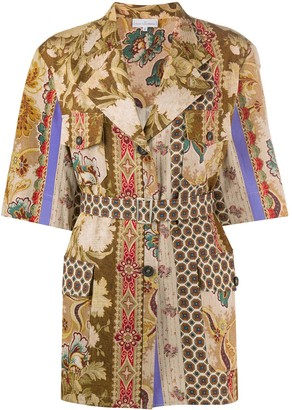 Pierre Louis Mascia Floral Print Belted Jacket