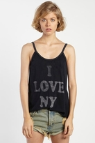 Rebel Yell NY Vintage Tank in Black