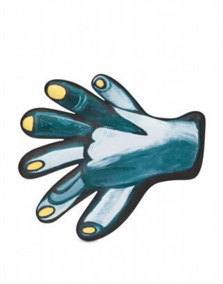 Moschino Drawing Hand Clutch Woman Grey Size U It - (one Size Us)