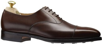 Crockett Jones Crockett & Jones Crockett and Jones Hallam Cap-toe Shoe in Dark Brown