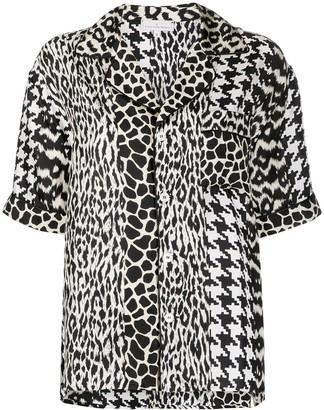 Pierre Louis Mascia Aloeuw mixed-print silk shirt