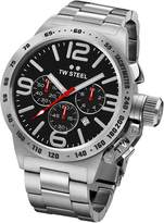 TW Steel Men's CB8 Analog Display Quartz Silver Watch