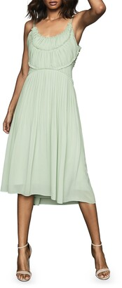 Reiss Thora Pleated Midi Dress