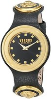 Versus By Versace Women's 'Carnaby Street' Quartz Stainless Steel and Leather Casual Watch, Color:Black (Model: SCG020016)