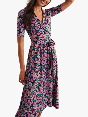 Boden Lavinia Floral Wrap Dress, Peony