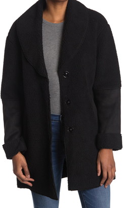 Kensie Faux Shearling Shawl Collar Coat