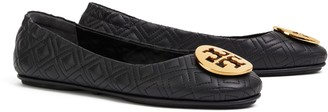 Minnie Travel Ballet Flat, Quilted Leather