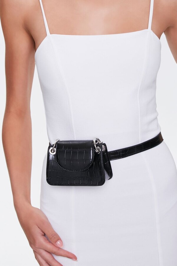 Thumbnail for your product : Forever 21 Faux Croc Leather Fanny Pack