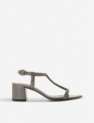 Dune Joelle embellished block-heel sandals