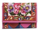Dolce & Gabbana Printed Leather French Flap Wallet