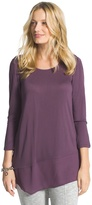 Chico's Mixed Fabric Top