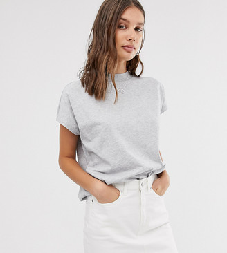 Weekday Prime T-Shirt in Grey Melange