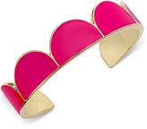Kate Spade Gold-Tone Pink Enamel Cuff Bracelet