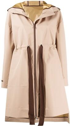 Peserico Drawstring Zipped Parka Coat
