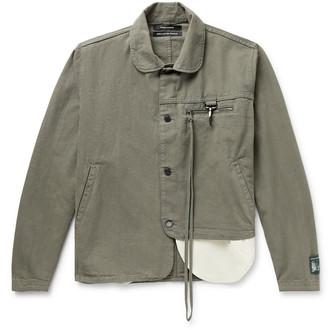 Reese Cooper Penny-Collar Asymmetric Linen and Cotton-Blend Jacket - Men - Gray
