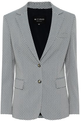 Etro Cotton-blend jacquard blazer