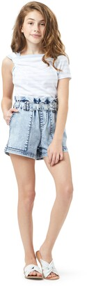 Habitual Paperbag Waist Denim Shorts