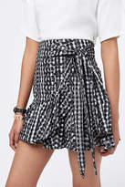 Rebecca Minkoff Ruffle Gingham Skirt