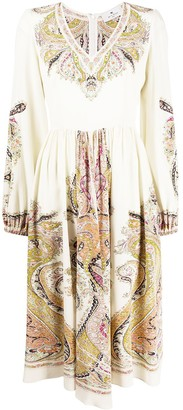 Etro Paisley Print Silk Dress