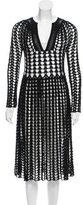 Catherine Malandrino Open Knit Midi Dress