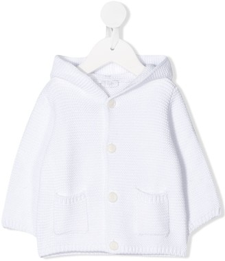Il Gufo Hooded Knitted Cardigan