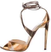 Jimmy Choo Metallic Snakeskin Sandals