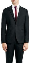 Topman Men's Skinny Fit Black One-Button Suit Jacket