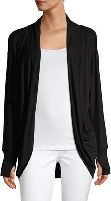 Andrew Marc Open-Front Long-Sleeve Cardigan