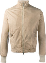 Giorgio Brato zip up jacket - men - Cotton/Leather/Nylon - 46